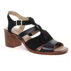 nu-pieds-talons-hauts noir: même style de chaussures en ligne pour femmes que les Marco Tozzi