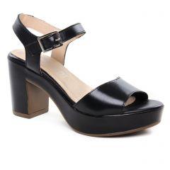 Chaussures femme été 2019 - nu-pieds talons hauts Maria Jaén noir