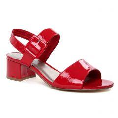 nu-pieds-talons-hauts rouge: même style de chaussures en ligne pour femmes que les Tamaris