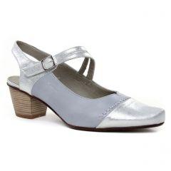 escarpins-trotteur bleu argent: même style de chaussures en ligne pour femmes que les Perlato