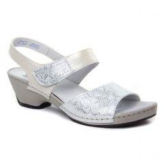 nu-pieds-trotteurs argent beige: même style de chaussures en ligne pour femmes que les Suave