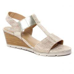 Chaussures femme été 2019 - sandales Maria Jaén beige doré