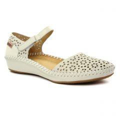 Chaussures femme été 2019 - sandales Pikolinos beige blanc