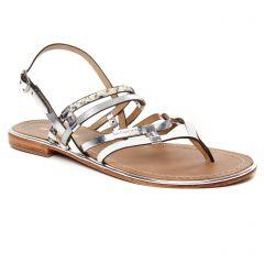 sandales blanc argent: même style de chaussures en ligne pour femmes que les Scarlatine