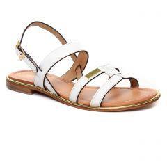 Les Tropéziennes Helina Blanc : chaussures dans la même tendance femme (sandales blanc) et disponibles à la vente en ligne