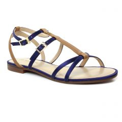 sandales bleu: même style de chaussures en ligne pour femmes que les Les Tropéziennes