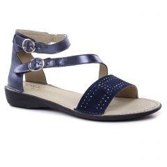 Dorking D7963 Marine : chaussures dans la même tendance femme (sandales bleu marine) et disponibles à la vente en ligne