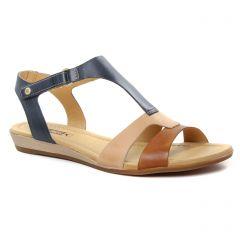 sandales bleu marron: même style de chaussures en ligne pour femmes que les Pikolinos