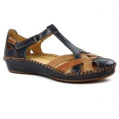 Chaussures femme été 2019 - sandales Pikolinos bleu marron