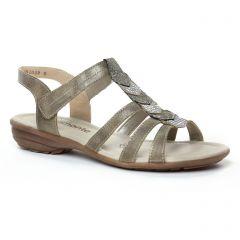 Chaussures femme été 2019 - sandales Remonte bronze doré