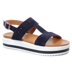 sandales-compensees bleu marine: même style de chaussures en ligne pour femmes que les Remonte