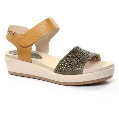sandales-compensees jaune vert: même style de chaussures en ligne pour femmes que les Les Tropéziennes