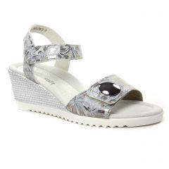 Chaussures femme été 2019 - nu-pieds compensés Remonte multicolore