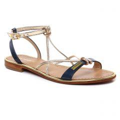 Chaussures femme été 2019 - sandales les tropéziennes doré bleu