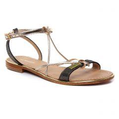 Chaussures femme été 2019 - sandales les tropéziennes doré noir