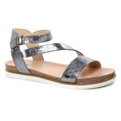 Chaussures femme été 2019 - sandales fugitive gris argent