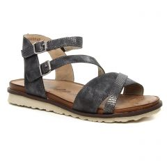 sandales gris argent: même style de chaussures en ligne pour femmes que les Scarlatine