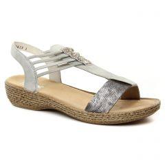 Rieker 658Y3-90 Altsilber : chaussures dans la même tendance femme (sandales gris argent) et disponibles à la vente en ligne
