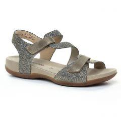 Chaussures femme été 2019 - sandales Remonte gris doré