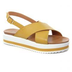 sandales jaune: même style de chaussures en ligne pour femmes que les Scarlatine
