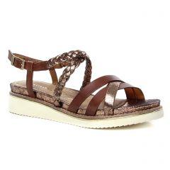sandales marron doré: même style de chaussures en ligne pour femmes que les Tamaris