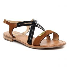 sandales marron noir: même style de chaussures en ligne pour femmes que les Scarlatine
