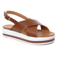 sandales marron: même style de chaussures en ligne pour femmes que les Jb Martin