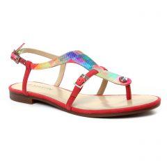 sandales rouge multi: même style de chaussures en ligne pour femmes que les Jb Martin