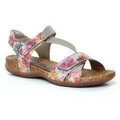 Chaussures femme été 2019 - sandales Remonte multicolore
