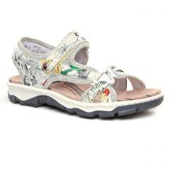 sandales multicolore: même style de chaussures en ligne pour femmes que les Rieker
