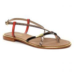 sandales noir doré rouge: même style de chaussures en ligne pour femmes que les Les Tropéziennes