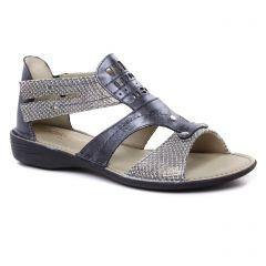 Chaussures femme été 2019 - sandales Dorking argent mauve