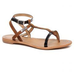 Les Tropéziennes Baie Noir : chaussures dans la même tendance femme (sandales noir marron) et disponibles à la vente en ligne