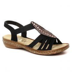 ba698bbb7fd Chaussures femme été 2019 - sandales rieker noir. Nouvelle Collection