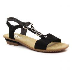 sandales noir: même style de chaussures en ligne pour femmes que les Rieker
