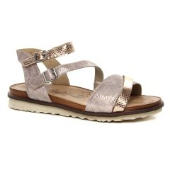 Chaussures femme été 2019 - sandales Remonte métal rose