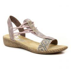 sandales rose: même style de chaussures en ligne pour femmes que les Rieker
