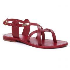 Chaussures femme été 2019 - sandales les tropéziennes rouge bordeaux