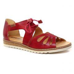 sandales rouge bordeaux: même style de chaussures en ligne pour femmes que les Pikolinos
