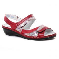 sandales rouge: même style de chaussures en ligne pour femmes que les Suave