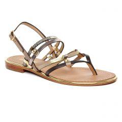 sandales taupe doré: même style de chaussures en ligne pour femmes que les Les Tropéziennes
