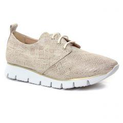 derbys-talons-compenses beige doré: même style de chaussures en ligne pour femmes que les Marco Tozzi