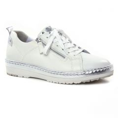 tennis blanc argent: même style de chaussures en ligne pour femmes que les Tamaris