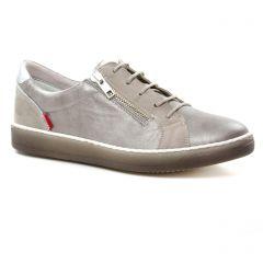 Chaussures femme été 2019 - tennis Dorking gris argent