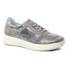 Remonte R9609-90 Metal Flower : chaussures dans la même tendance femme (tennis gris doré) et disponibles à la vente en ligne