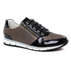 tennis noir doré: même style de chaussures en ligne pour femmes que les Remonte