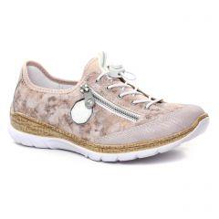 baskets-mode rose multi: même style de chaussures en ligne pour femmes que les Rieker