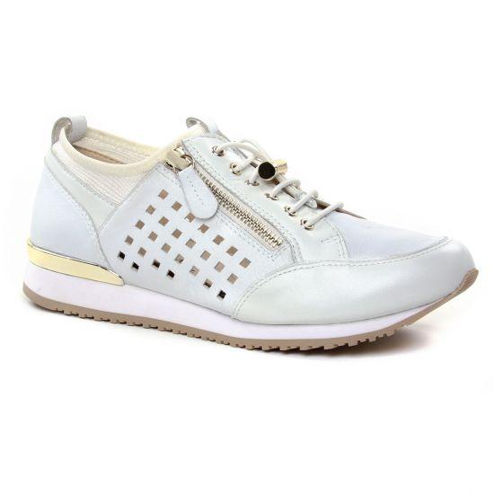 Tennis Et Baskets Mode Caprice 23500 White, vue principale de la chaussure  femme
