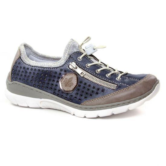 Tennis Et Baskets Mode Rieker L3296-42 Stell Jeans, vue principale de la chaussure femme