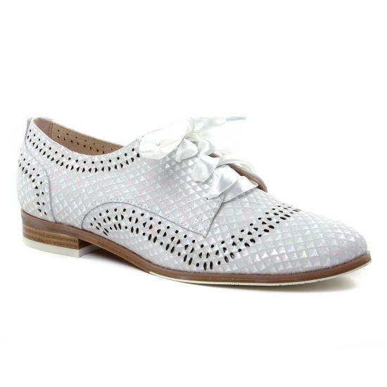 Chaussures À Lacets Fugitive Heder Blanc, vue principale de la chaussure femme